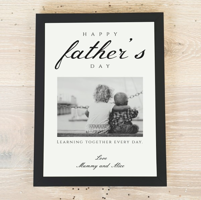 Picture of A4 Father's Day photo personalised poster