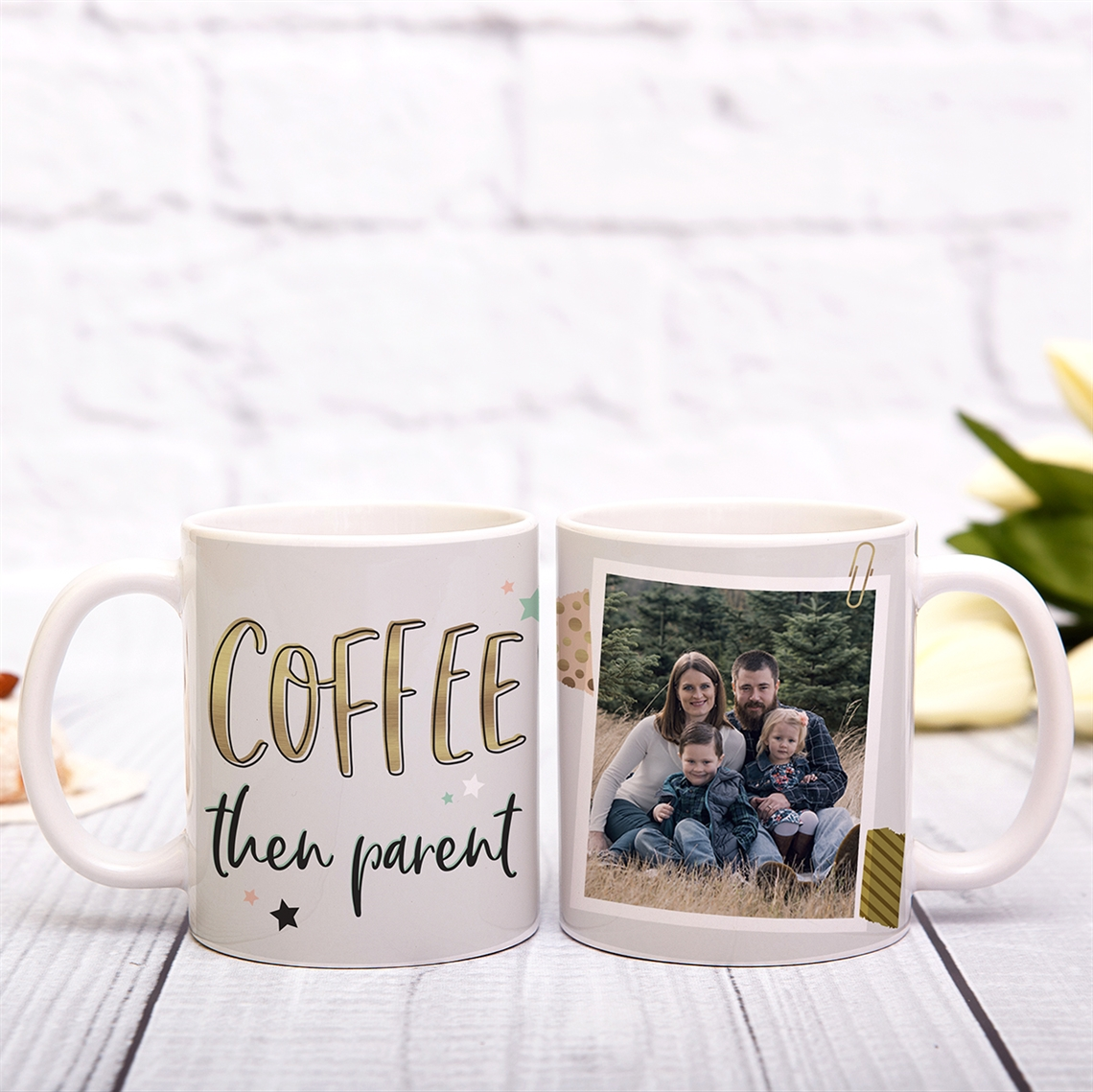 Picture of Coffee Then Parent Personalized Mug