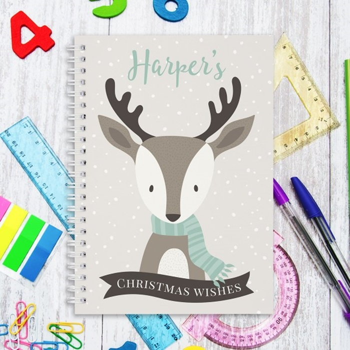 Picture of A5 Reindeer hardcover spiral notebook