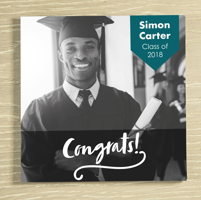 Picture of Congrats Graduate Personalised Chocolate card