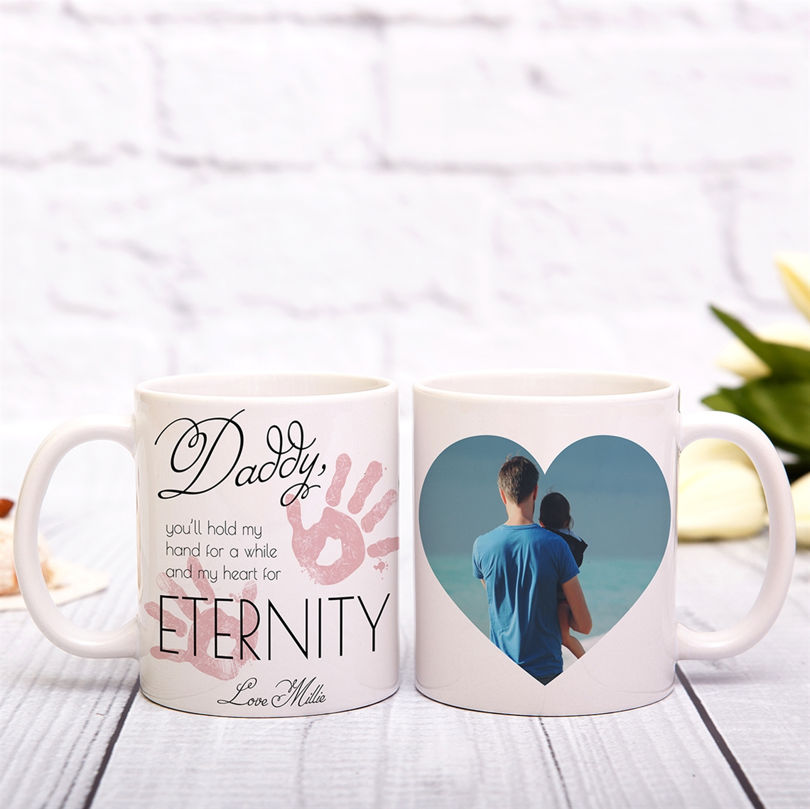 Picture of Hold My Hand Daddy Pink Mug