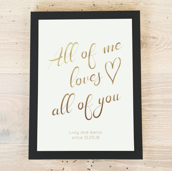 Picture of A4 All of me personalised poster
