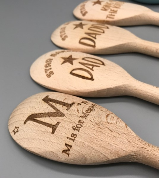 Picture of Letter Personalised wooden spoons