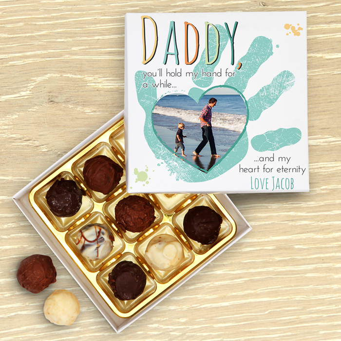Picture of Hold My Hand Daddy Blue Chocolate Box