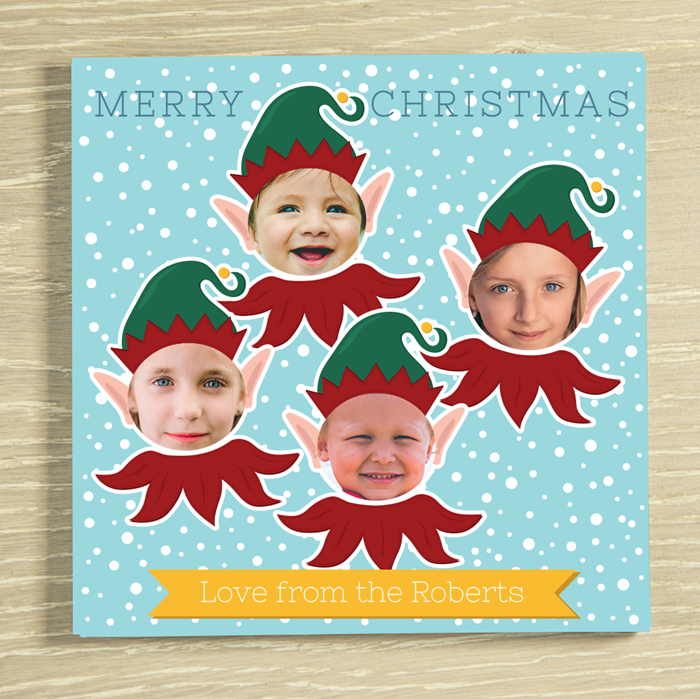Picture of Christmas Elf-yourself 4 Personalised Chocolate Card