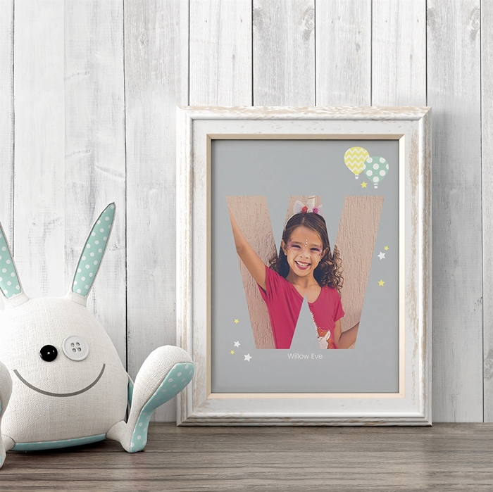Picture of Baby & Kids Letter W Poster