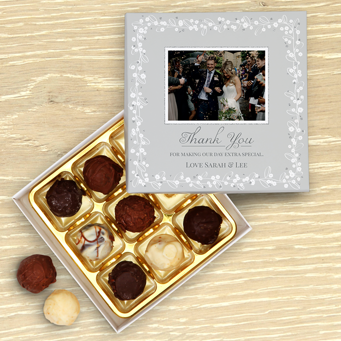 Picture of Wedding Thank You Personalised Chocolate Box