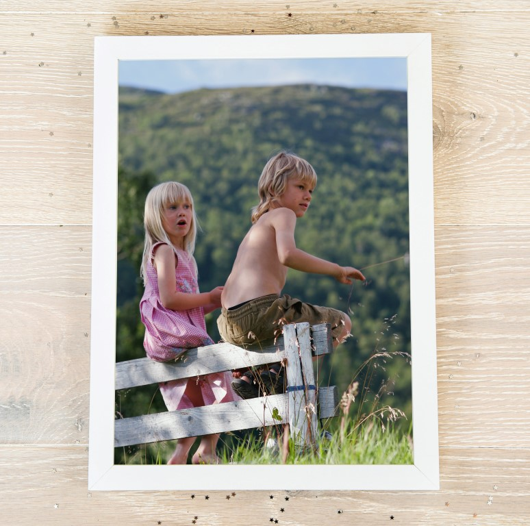 Picture of A3 portrait photo personalised poster