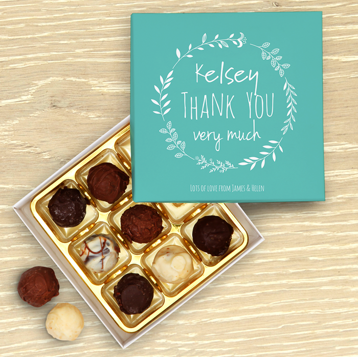Picture of Thank You Personalised Chocolate Box