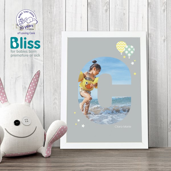 Picture of A4 Baby Alphabet 'C' personalised poster