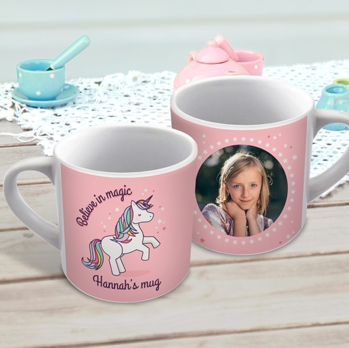 Picture of Dancing Unicorn child's personalised mug