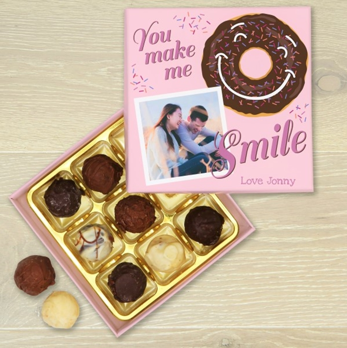 Picture of You make me smile Chocolate Box