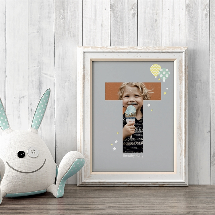 Picture of Baby & Kids Letter T Poster