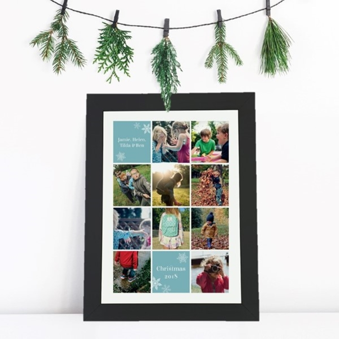 Picture of Festive A3 Instagram-style photo personalised poster