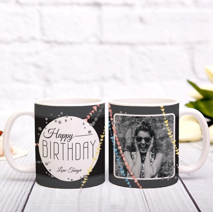 Picture of Happy Birthday Photo Personalized Mug