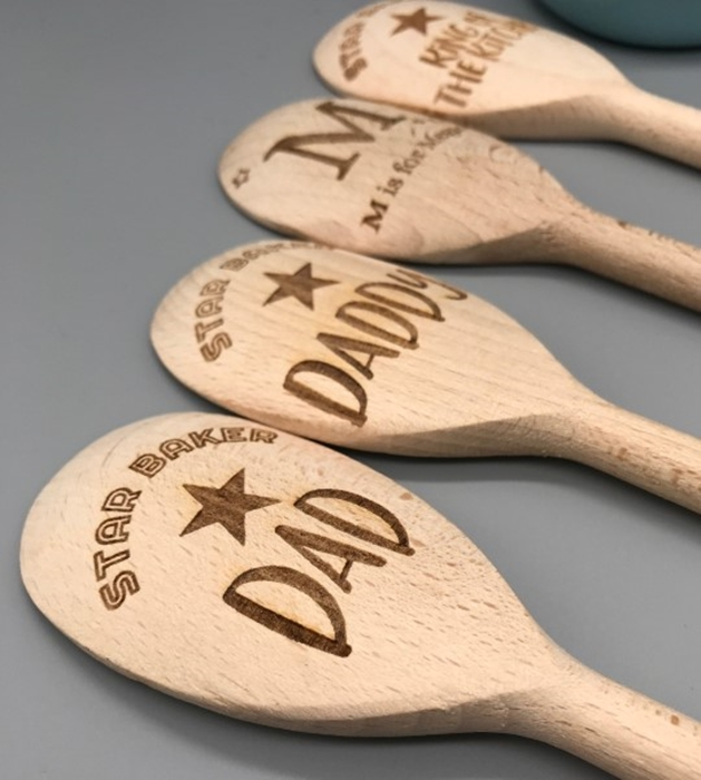 Picture of PRE-MADE Daddy/Dad wooden spoons