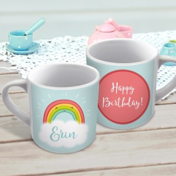 Picture of Rainbow child's personalised mug