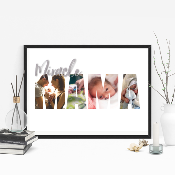 Picture of A3 Miracle Mama photo personalised poster