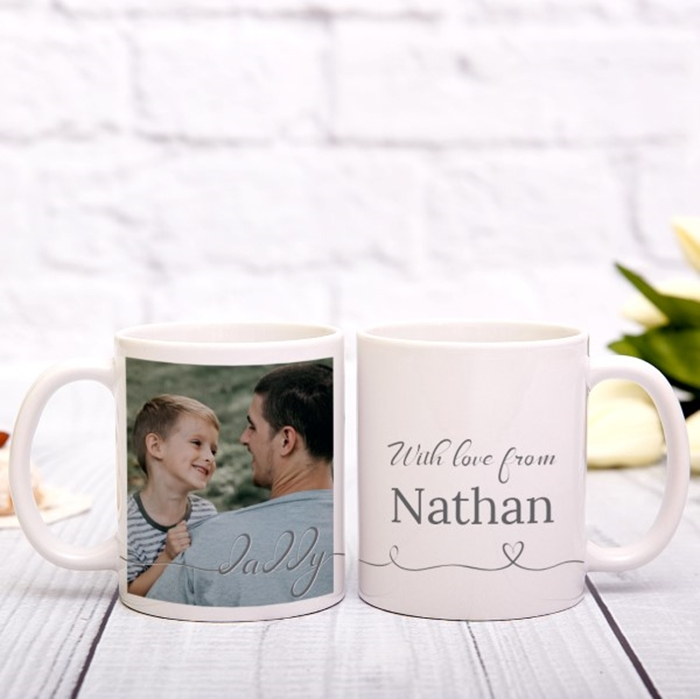 Picture of Daddy Script Personalized Mug