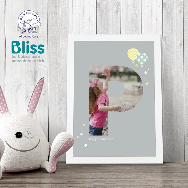 Picture of A4 Baby Alphabet 'P' personalised poster