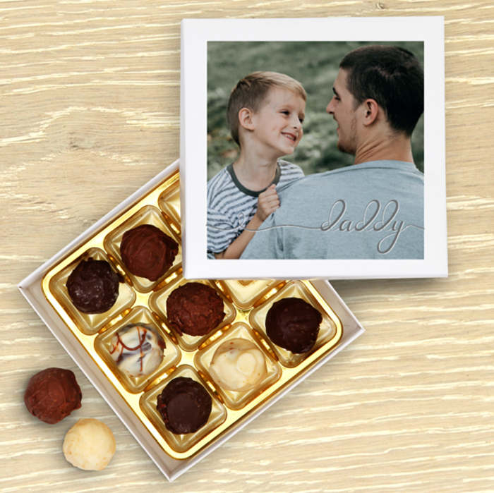 Picture of Daddy script personalised chocolate box