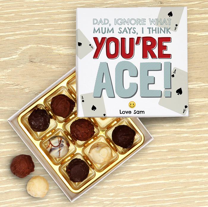 Picture of You're Ace Dad Chocolate Truffles Gift Box