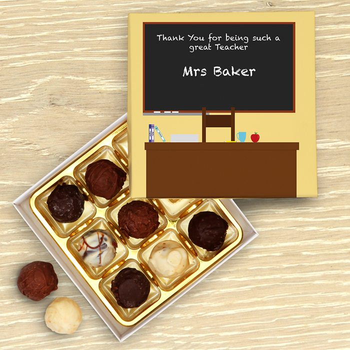 Picture of Teacher Chalk Board Personalised Chocolate Box