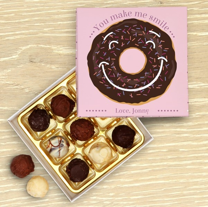 Picture of You Make Me Smile Donut Chocolate Box