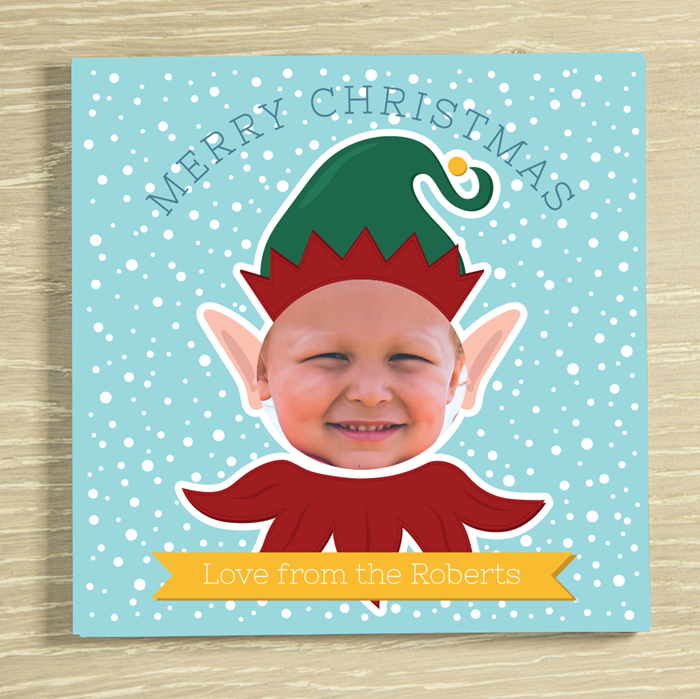 Picture of Christmas Elf-yourself Personalised Chocolate Card